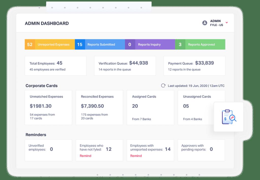 Fyle Expense Management Powerful Dashboard