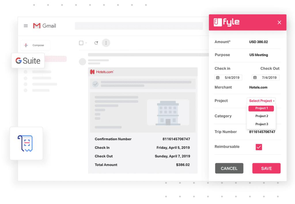 Fyle Expense Management GSuite Integration